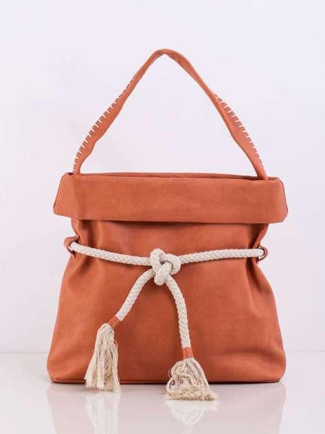Pomarańczowa torba z wiązaniem