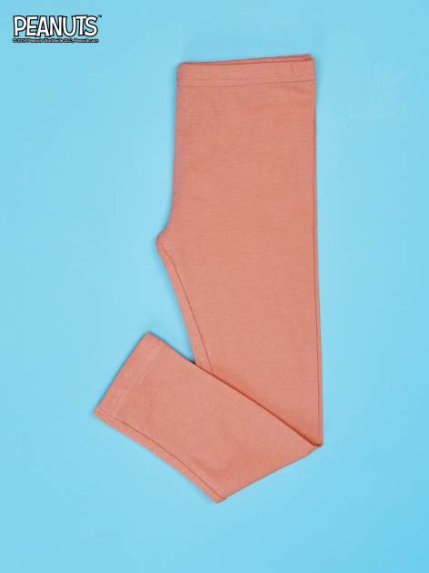 Pomarańczowe legginsy dla dziewczynki SNOOPY                                  zdj.                                  2