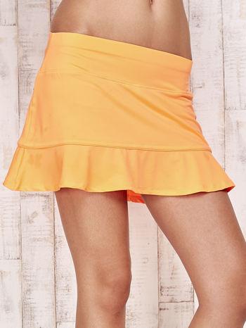 Pomarańczowe spodenki spódniczka tenisowa z falbanką                                  zdj.                                  4