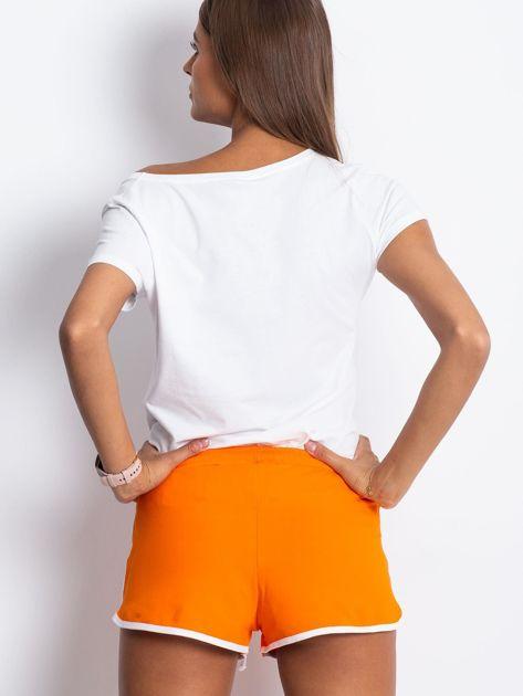 Pomarańczowe szorty Politeness                              zdj.                              2