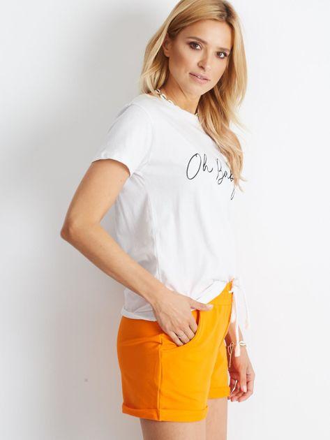 Pomarańczowe szorty Rejuvenate                              zdj.                              3