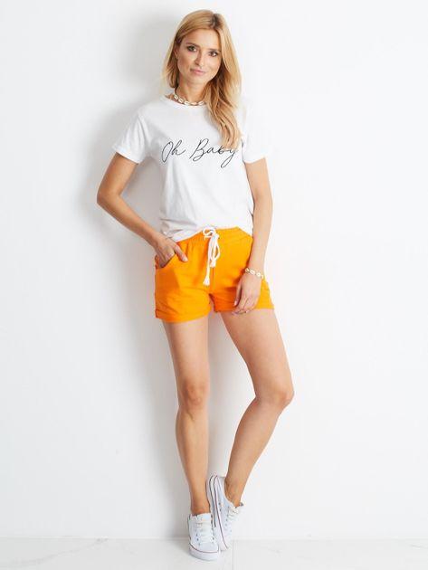 Pomarańczowe szorty Rejuvenate                              zdj.                              4