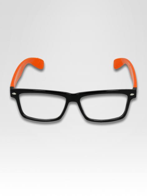 Pomarańczowo-czarne okulary zerówki kujonki                                  zdj.                                  1