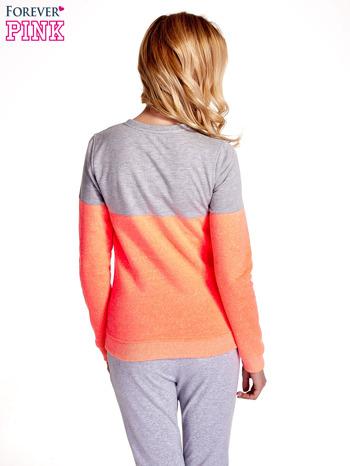 Pomarańczowo-szara bluza z napisem I'M SO ADVERSE                                  zdj.                                  4