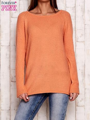 Pomarańczowy dzianinowy sweter                                   zdj.                                  1