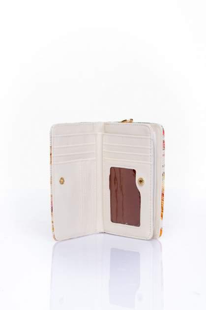 Pomarańczowy portfel z kwiatowym nadrukiem                                  zdj.                                  4