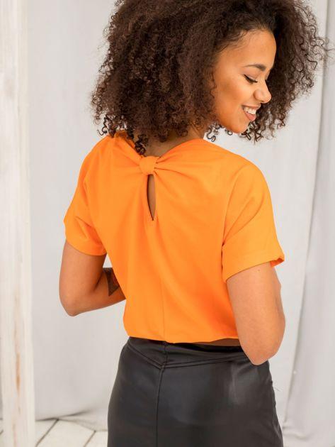 Pomarańczowy t-shirt Flow                              zdj.                              1