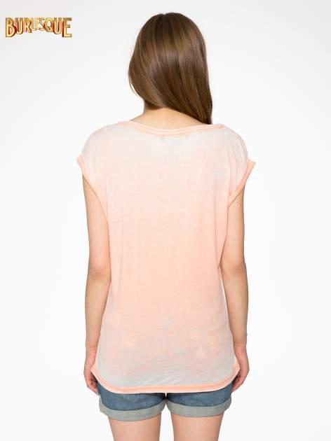Pomarańczowy t-shirt LOVE ROCKS                                  zdj.                                  4
