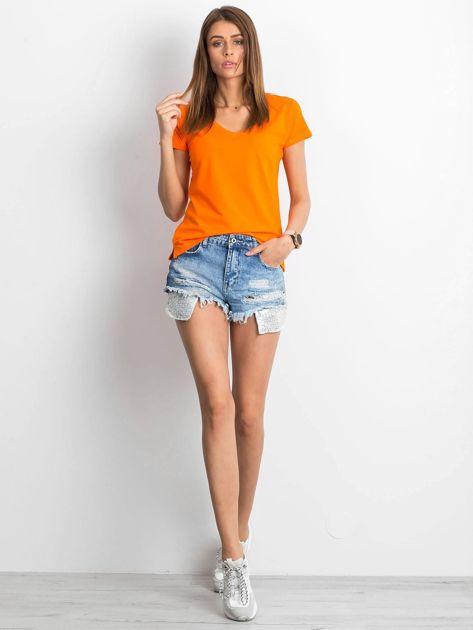 Pomarańczowy t-shirt Square                              zdj.                              4