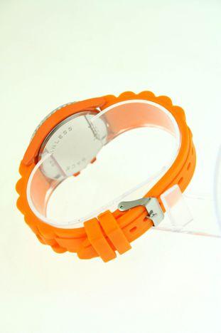 Pomarańczowy zegarek damski na silikonowym pasku                                  zdj.                                  3