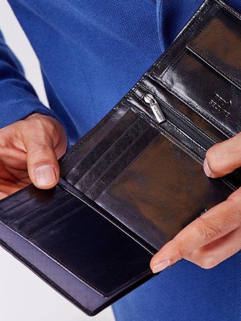 Portfel czarny skórzany z tłoczeniami                              zdj.                              4