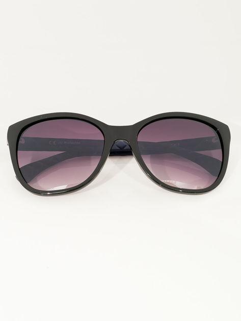 Przeciwsłoneczne okulary damskie z granatowymi zausznikami                              zdj.                              2