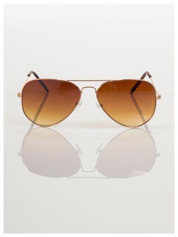 Przepiękne brązowe pilotki -okulary przeciwsłoneczne typu AVIATOR                                  zdj.                                  2