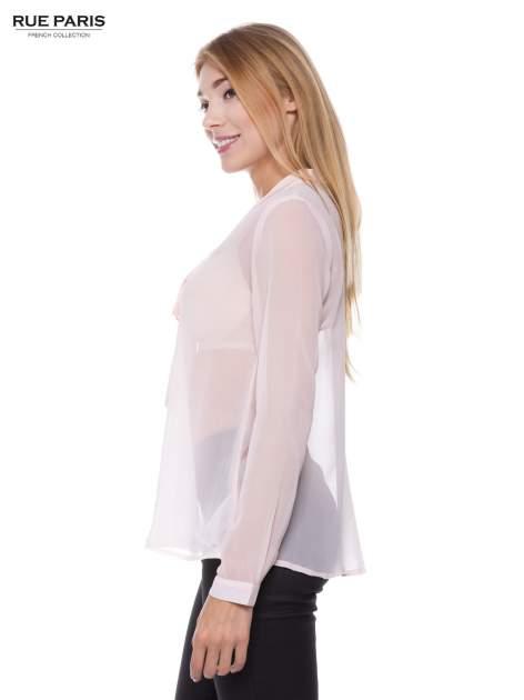 Pudroworóżowa koszula mgiełka z kokardą                                  zdj.                                  2
