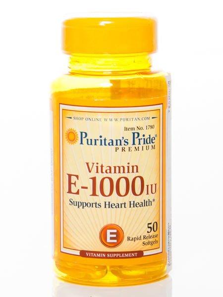 Puritans Pride - Witamina E 1000 IU - 50 kapsułek                              zdj.                              1