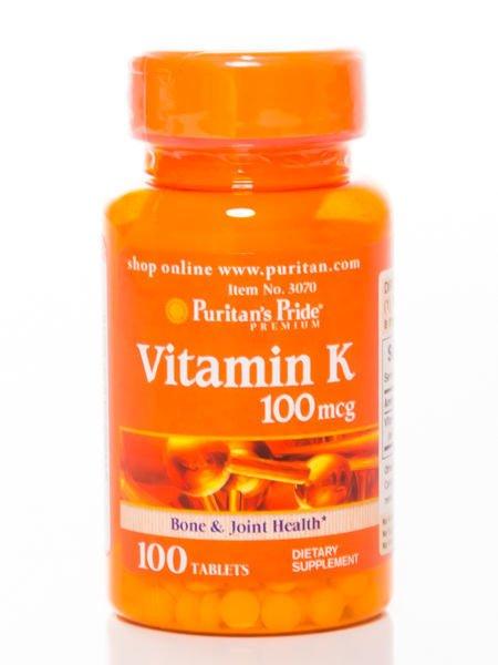 Puritan's Pride - Witamina K 100 mcg - 100 tabletek                              zdj.                              1