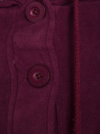 Purpurowa polarowa bluza z kapturem z uszkami                                  zdj.                                  6