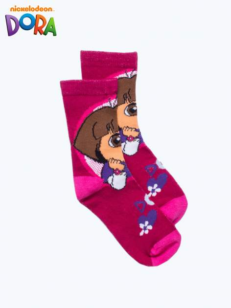 Purpurowe skarpetki dla dziewczynki DORA