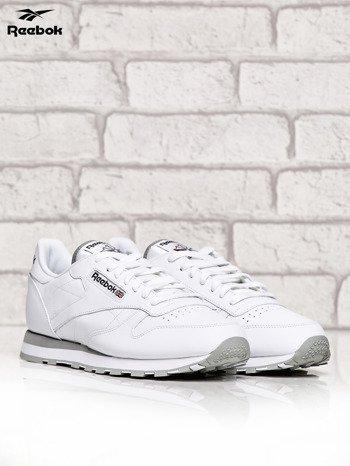 REEBOK Białe buty męskie sportowe Classic Leather z przeszyciami                              zdj.                              2