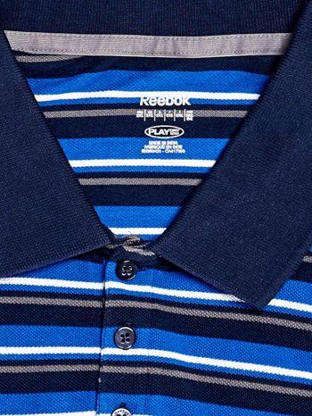 REEBOK Niebieska koszulka polo męska w paski                                  zdj.                                  3