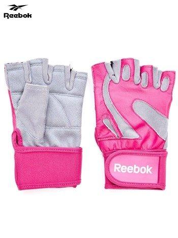 REEBOK Różowe rękawiczki treningowe                               zdj.                              1