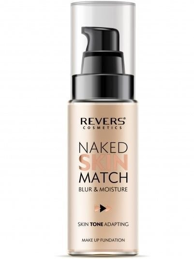REVERS Fluid NAKED SKIN MATCH NR 02 NUDE BEIGE, 30 ml                              zdj.                              4