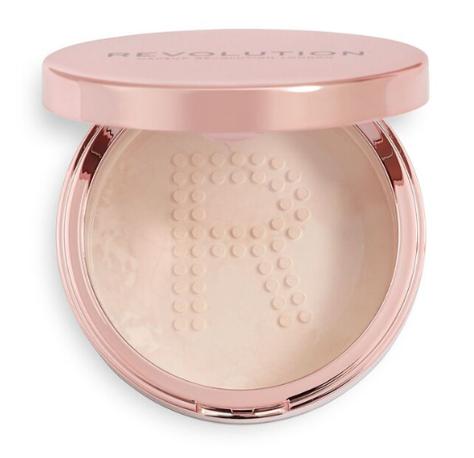 REVOLUTION Conceal & Fix Setting Powder Puder sypki Light Pink 13 g