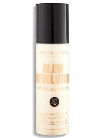 REVOLUTION Glow Revolution Eternal Gold rozświetlająca mgiełka do twarzy i ciała multi-purpose 200 ml
