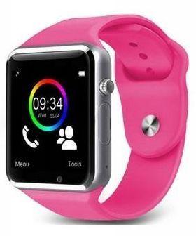 RONEBERG Smartwatch RA1 Współpracuje z Android oraz iOS Powiadomienia Połączenia Krokomierz Monitor snu różowo-srebrny                              zdj.                              1