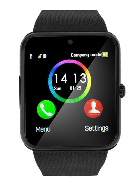 RONEBERG Smartwatch RG08 Współpracuje z Android oraz iOS Powiadomienia Połączenia Krokomierz Monitor snu Czarny                              zdj.                              1