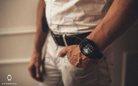 RONEBERG Smartwatch RM26 Współpracuje z Android oraz iOS Powiadomienia Połączenia Krokomierz Monitor snu Niebieski                              zdj.                              4