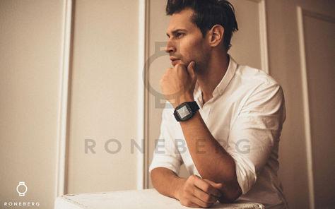 RONEBERG Smartwatch RM26 Współpracuje z Android oraz iOS Powiadomienia Połączenia Krokomierz Monitor snu Niebieski                              zdj.                              6