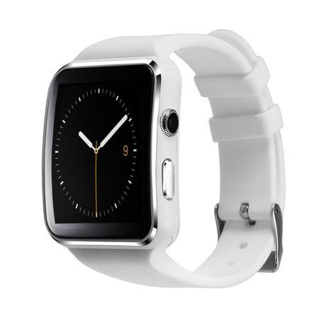 RONEBERG Smartwatch RX6 Współpracuje z Android oraz iOS Powiadomienia Połączenia Krokomierz Monitor snu Biały                              zdj.                              1