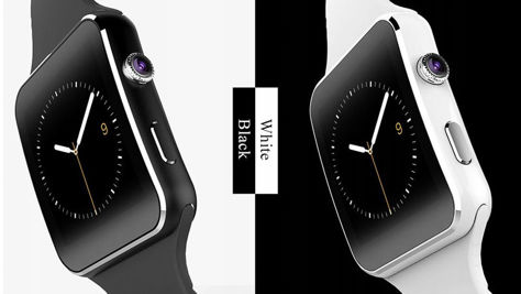 RONEBERG Smartwatch RX6 Współpracuje z Android oraz iOS Powiadomienia Połączenia Krokomierz Monitor snu Biały                              zdj.                              3