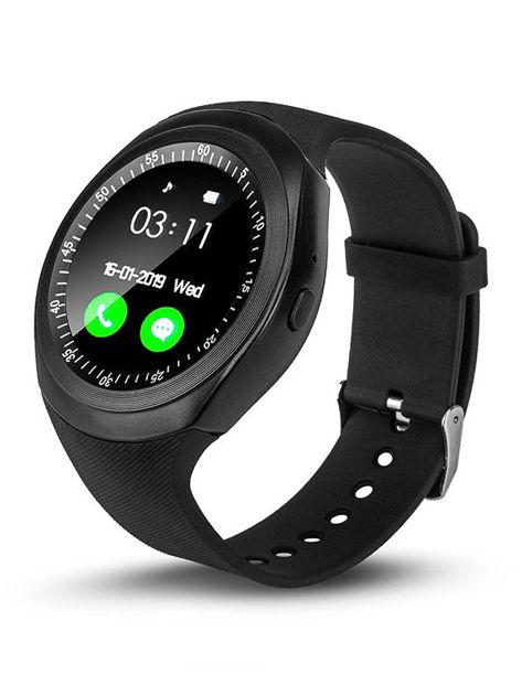 RONEBERG Smartwatch RY1B Współpracuje z Android oraz iOS Powiadomienia Połączenia Krokomierz Czarny                              zdj.                              2