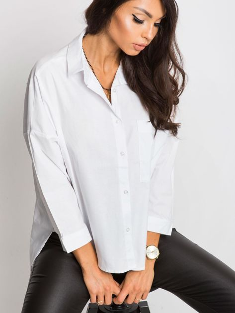 RUE PARIS Biała koszula Great