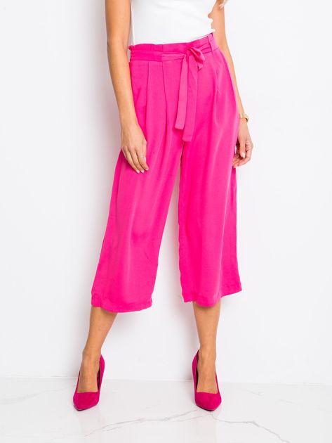RUE PARIS Ciemnoróżowe spodnie Bright
