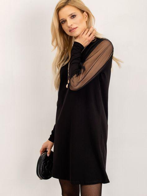 RUE PARIS Czarna sukienka Espinosa                              zdj.                              7