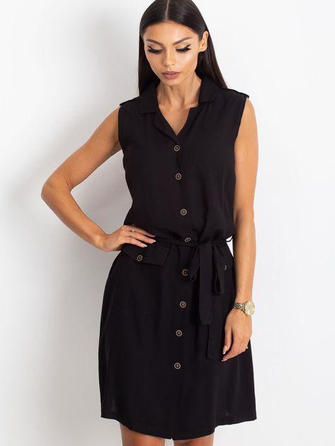 RUE PARIS Czarna sukienka Hive                              zdj.                              1