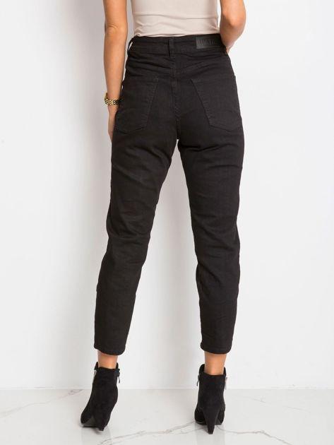 RUE PARIS Czarne spodnie Harlow                              zdj.                              2