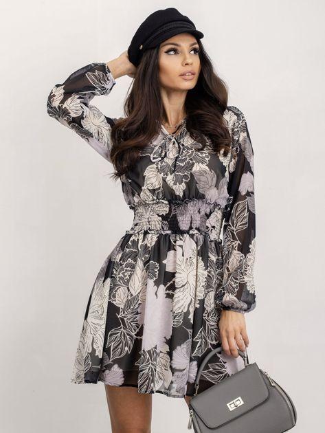 RUE PARIS Czarno-biała sukienka Riva                              zdj.                              1