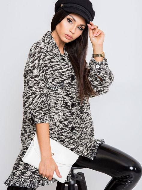 RUE PARIS Czarno-biały sweter Felicity