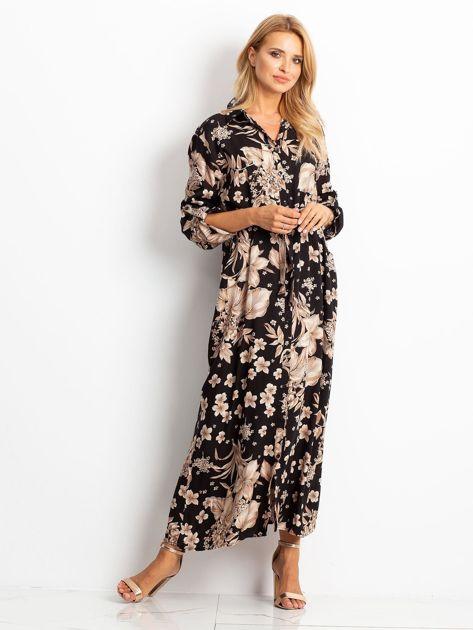 RUE PARIS Czarno-brązowa sukienka Temple                              zdj.                              1