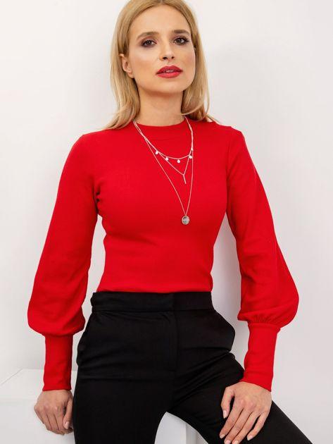 RUE PARIS Czerwona bluzka Lauren