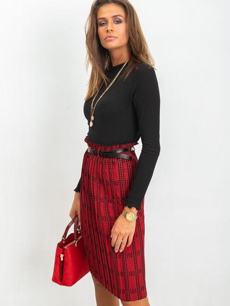 RUE PARIS Czerwono-czarna spódnica Diaz                              zdj.                              6