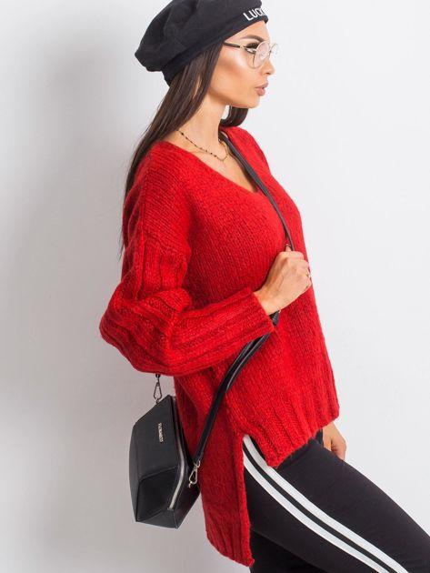 RUE PARIS Czerwony sweter Gift                              zdj.                              3