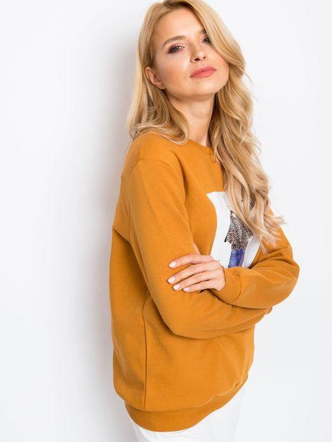 RUE PARIS Jasnobrązowa bluza Becky                              zdj.                              3