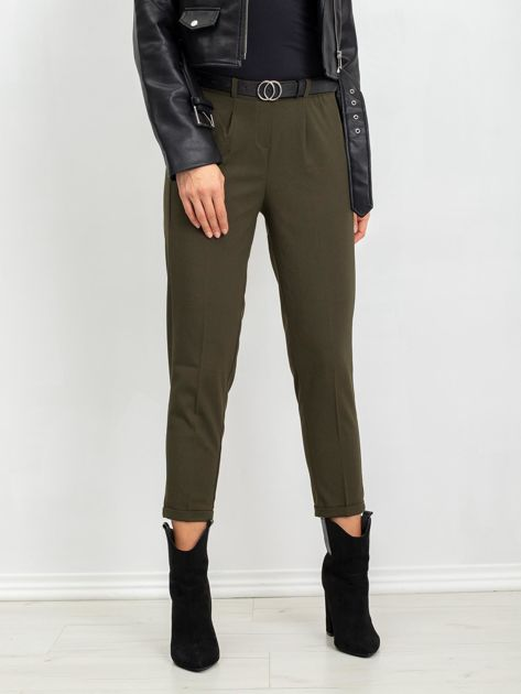 RUE PARIS Khaki spodnie Bloom