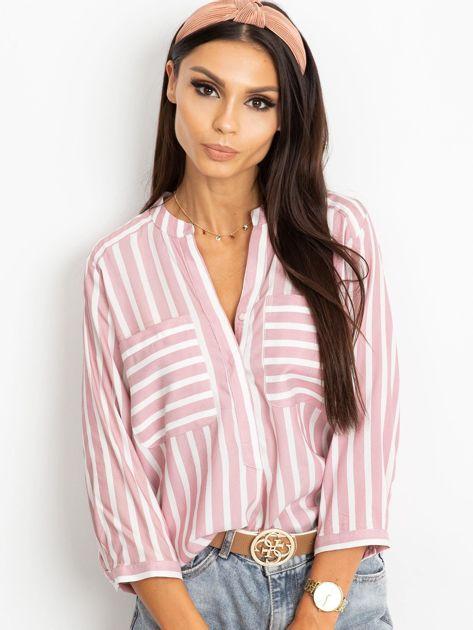 RUE PARIS Różowo-biała bluzka Sienna                              zdj.                              5
