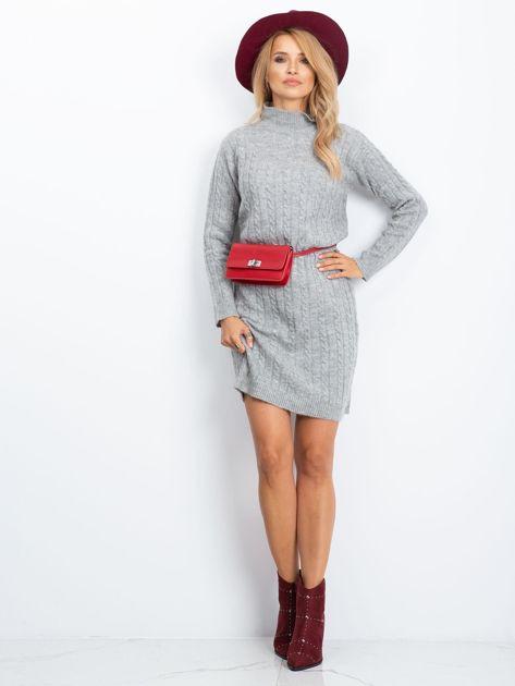 RUE PARIS Szara sukienka Evermore                              zdj.                              4